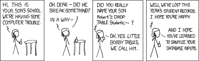 Billy Droptables XKCD Comic