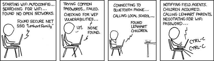 XKCD on WiFi Security